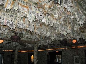 Captiva cruises-money on ceiling
