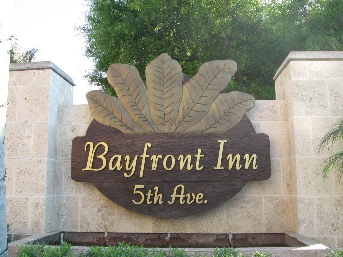 Bayfront Inn sign