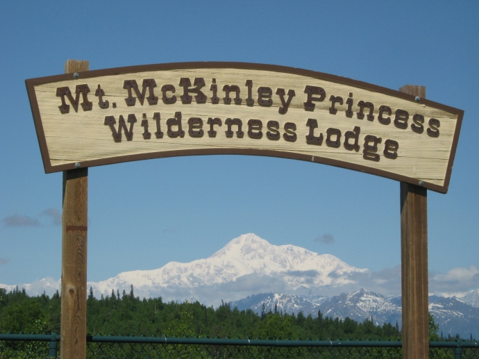 Mt. McKinley Princess Lodge sign