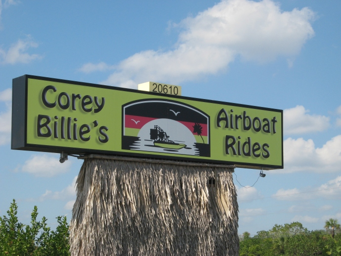 Corey Billie's sign