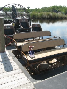 Teddy on airboat